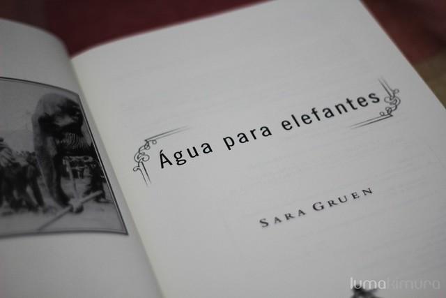 Água para Elefantes (Sara Gruen)