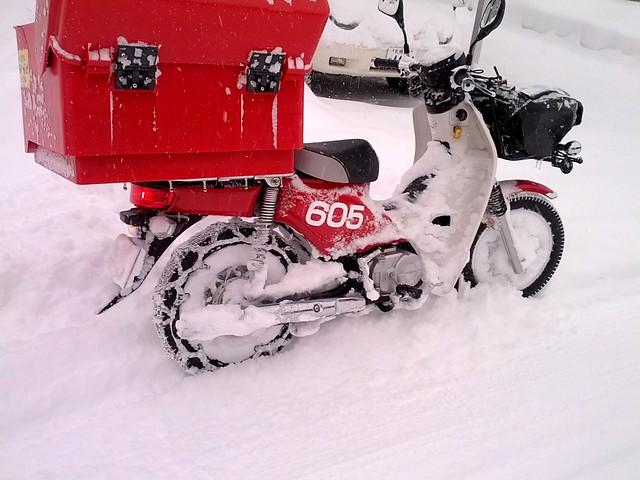 雪の郵便屋さん