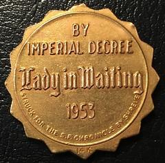 1953 Emperor Norton gold medal reverse