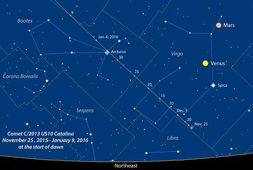 Comet C/2013 Catalina Finder Chart