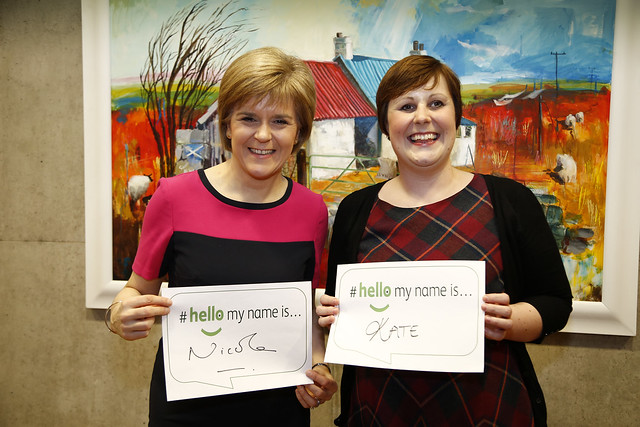 First Minister Nicola Sturgeon meets Kate Granger