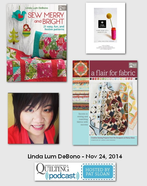 American Patchwork and Quilting Pocast Linda Lum DeBono Nov 2014