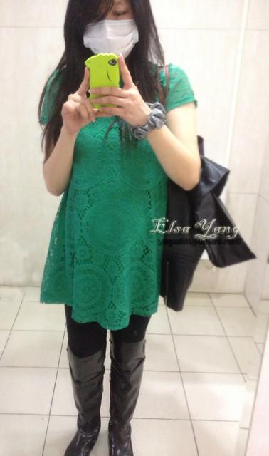 綠色蕾絲1