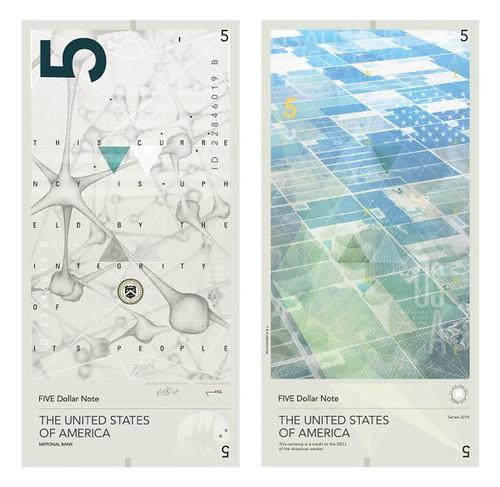 Purrington $5 note design concept