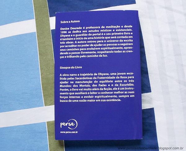 resenha, Contracapa, livro, Dhyana e o guardião do portal, Denise Dourado Oliveira, sinopse,