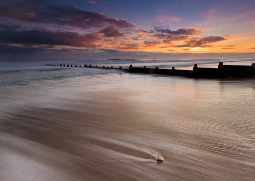 seascape sunrise dawn coast northumberland wash groyne blyth