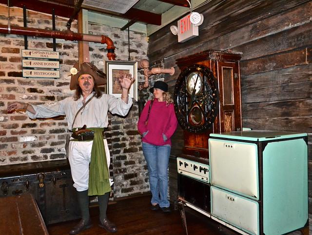 Pirate tour in The Pirates House Savannah
