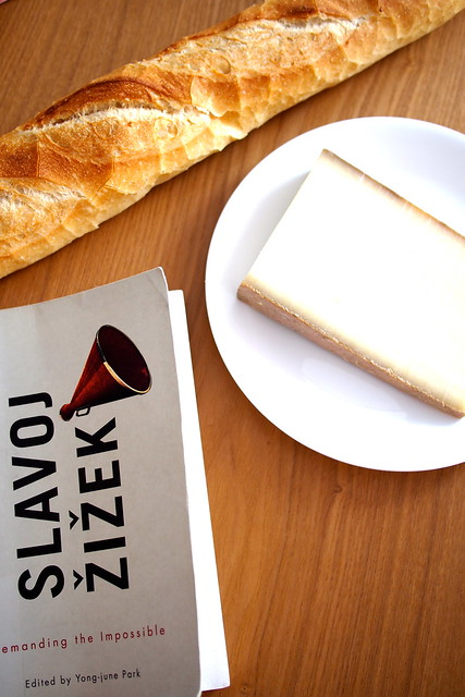 Slavoj Žižek's Demanding the Impossible, Baguette, comte
