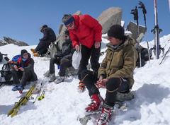 Przełęcz Col Superieur de Tour. Czas na lunch.