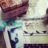 #accrogenda #washitape #cherrygarden #stamp #plastifieuse #LGpocketphoto