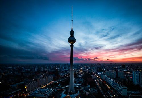 View from Alexanderplatz in Berlin