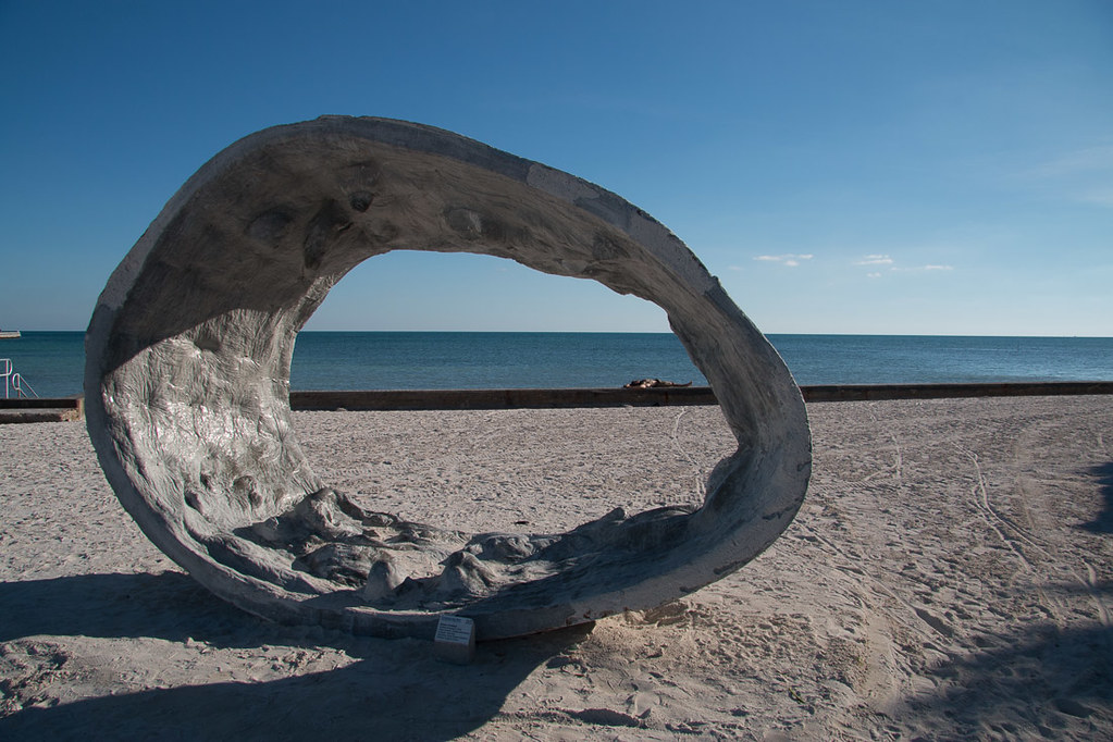 Sculpture on beach in Key West