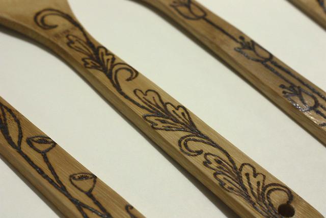 DIY Woodburned Spoons and Spatulas