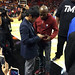 Small photo of Manny Pacquiao And Floyd Mayweather At Heat Bucks Game