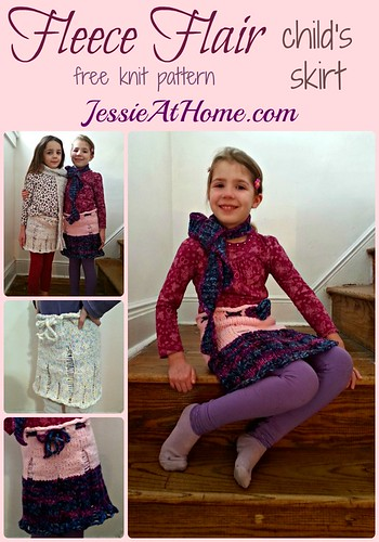 Fleece Flair Child's Skirt ~ Free Knit Pattern by Jessie At Home