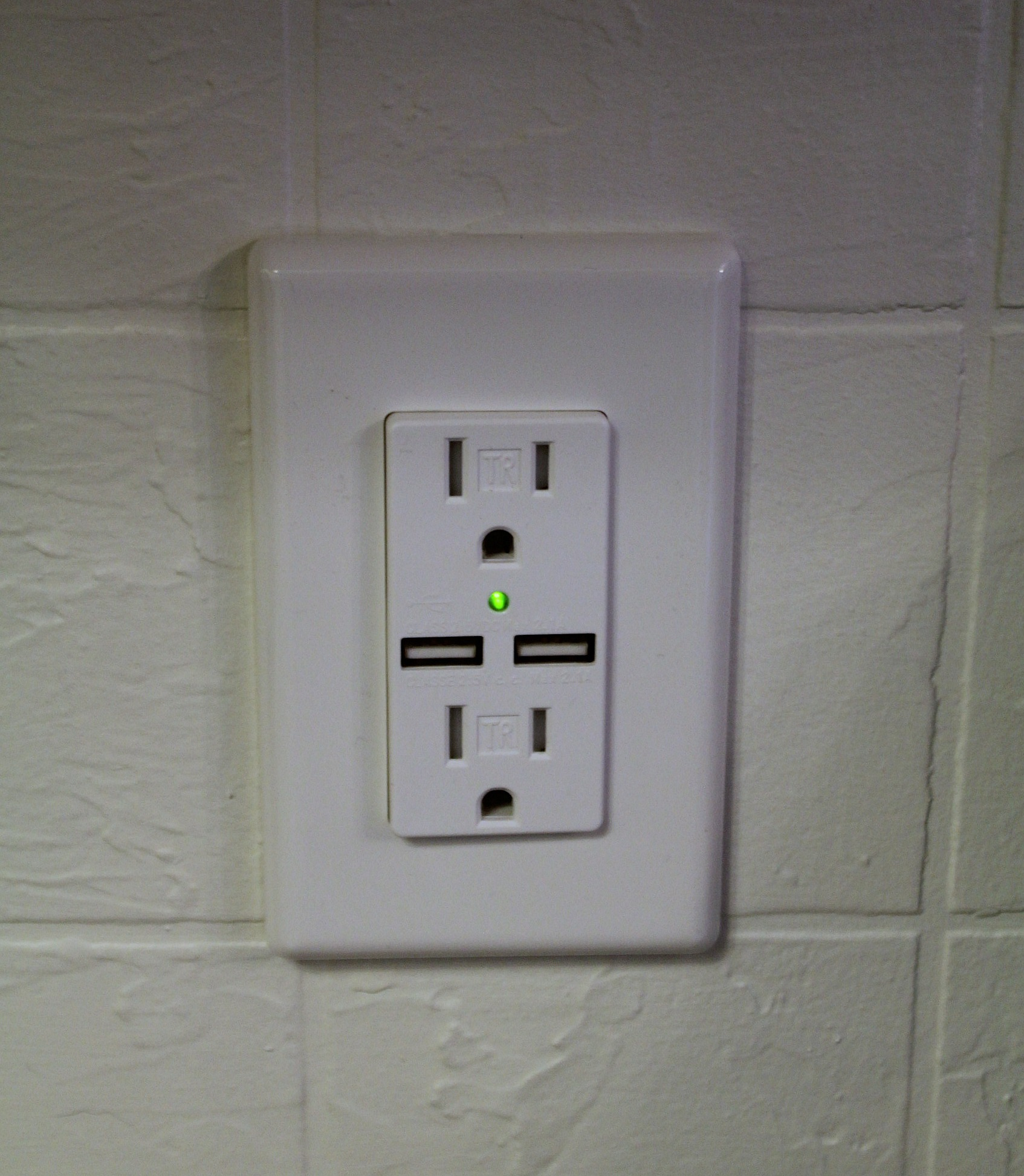 usb wall outlet combo