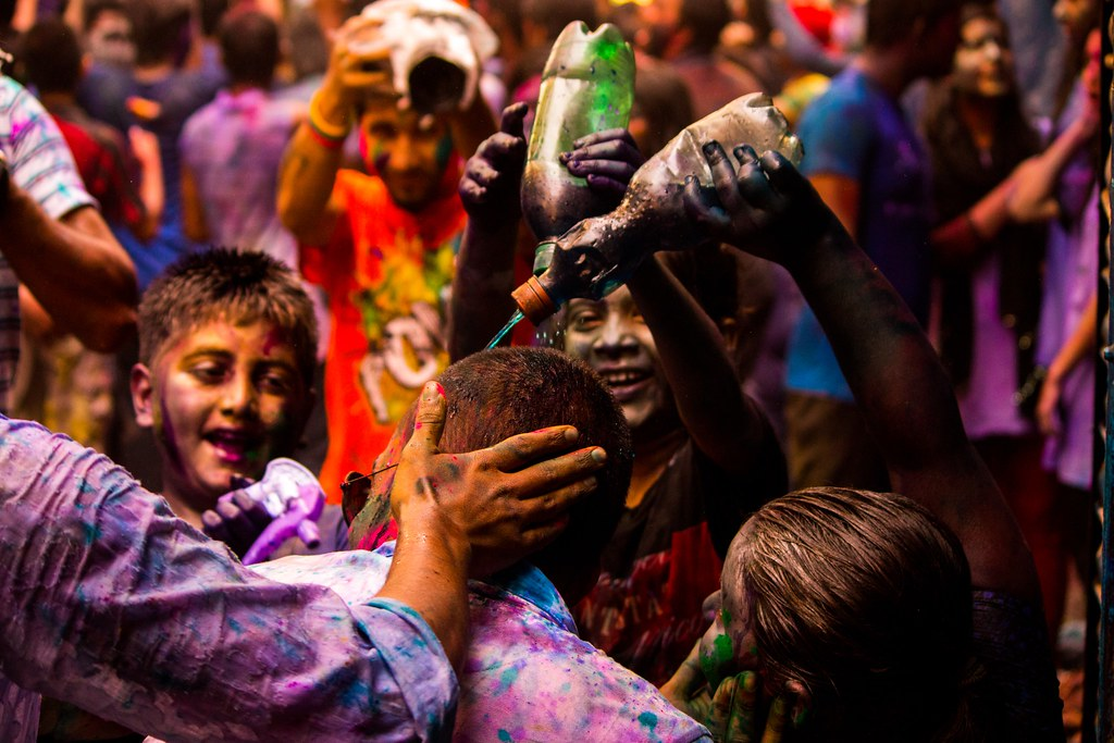 Holi Festival in Shakharibazar, Dhaka