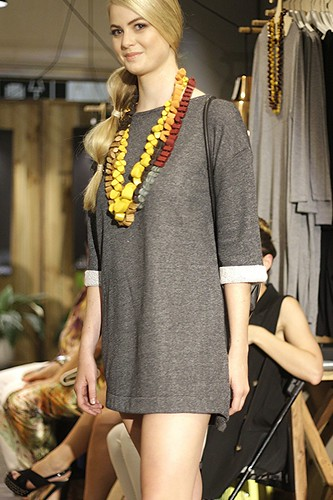 Grey T-shirt dress by Elk