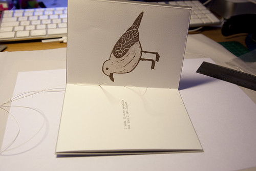 There's No Such Thing As Seagulls, Sewing Pamphlet Stitch