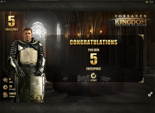 Forsaken Kingdom Free Spins Feature