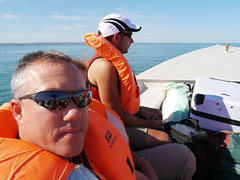 Me on the speed boat ferry, Tulear to Anakao