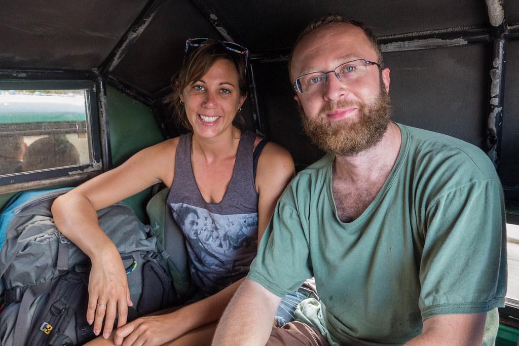 Catching a ride in a Camione, Cuba.jpg