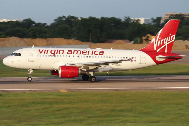 N526VA Virgin America A319-112 KDAL