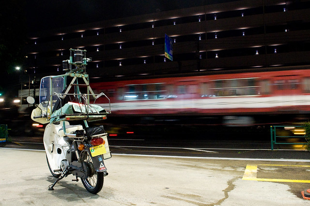 Super Cub C70 with Subway Car