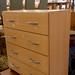 Beech laminate 4 drawer chest €35