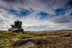 Over Owler Tor in High Summer