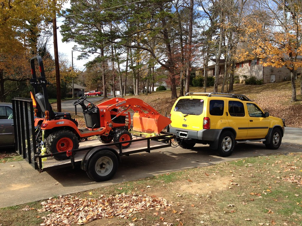Hauling a Kubota BX on a 10 foot trailer - MyTractorForum.com - The ...