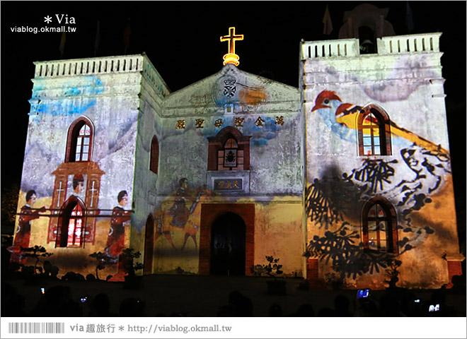 【萬金教堂】屏東萬金教堂聖誕季~3D光雕秀+耶誕地景藝術/全台最濃耶味小鎮!12