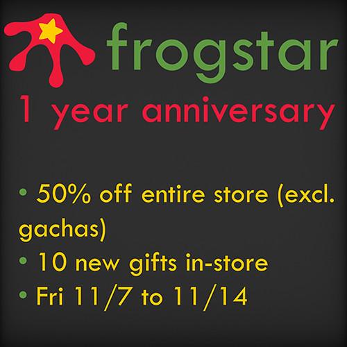 Frogstar Anniversary Sale