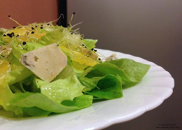 Salata cu gorgonzola si portocala