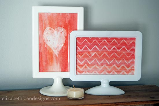 DIY Valentines Art Watercolor