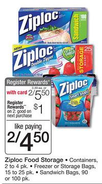 Ziploc Containers at Walgreens