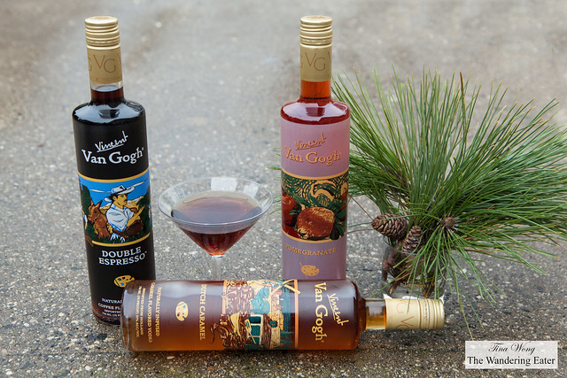 Dutch Caramel, Double Espresso, Pomegranate Van Gogh Vodkas