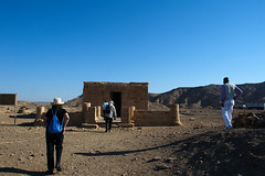 Walking to the Amenhotep III Temple at el Kab