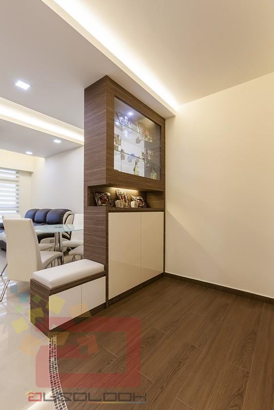 White cabinets bathroom - Hdb Bto 4 Room Modern Contemporary Blk 782e Woodlands Meadow
