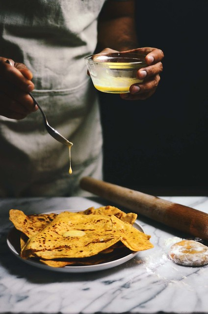 chickpea besan parathas/ an indian flatbread | A Brown Table