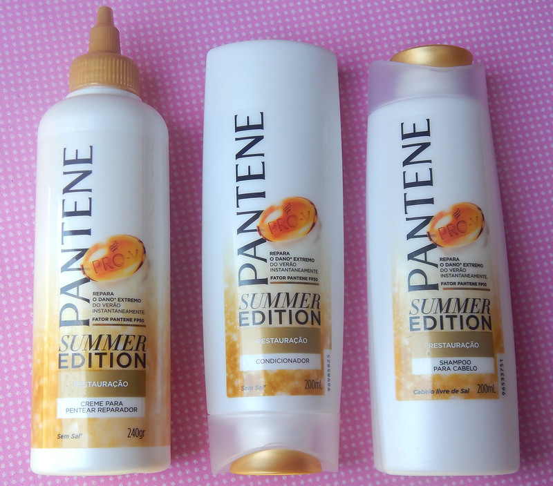 Shampoo, condicionador e leave-in Pantene Summer Edition