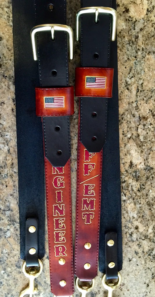 Two tone radio strap with US flag