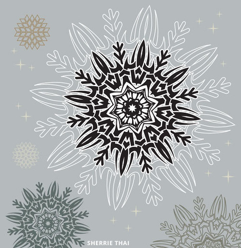 Graphic Tribal Snowflake