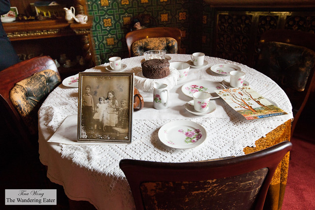 Setting for tea for the children but with real china