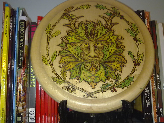 Green Man plate