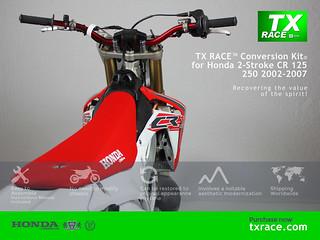 Tx Race Restyle Plastic Kit 174 For Honda Cr125 250 2002