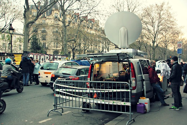TV Crew on the streets of Paris after Charlie attacks