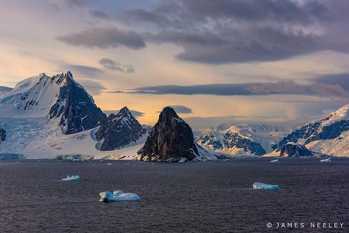 sunrise landscape antarctica iceberg gerlachestrait jamesneeley