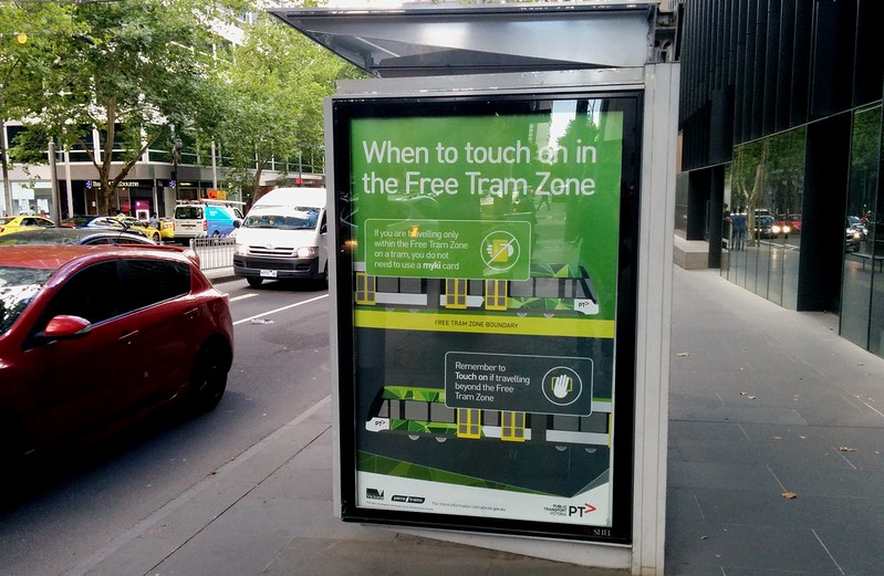 Free Tram Zone advertising/signage
