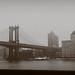 Two Bridges: Under Manhattan Bridge by Jeffrey